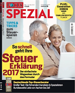 Top Steuerberater 2018 - Focus Spezial Februar
